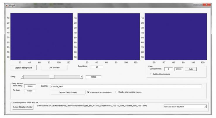 Приложение MATLAB, используемое для автоматизации сбора данных.