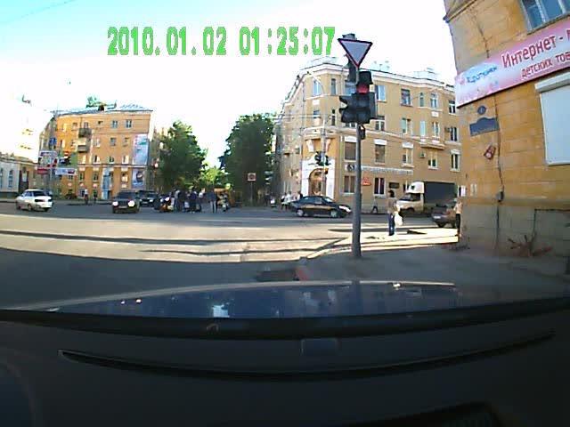 Рис. 13. Мерцание красной секции светофора на видеограмме